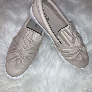Ruffled slip on shoes